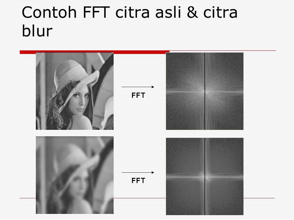 Contoh FFT citra asli & citra blur FFT