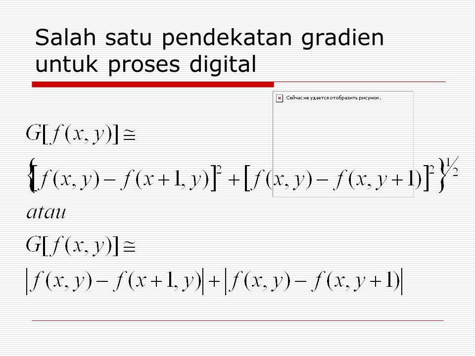 Salah satu pendekatan gradien untuk proses digital