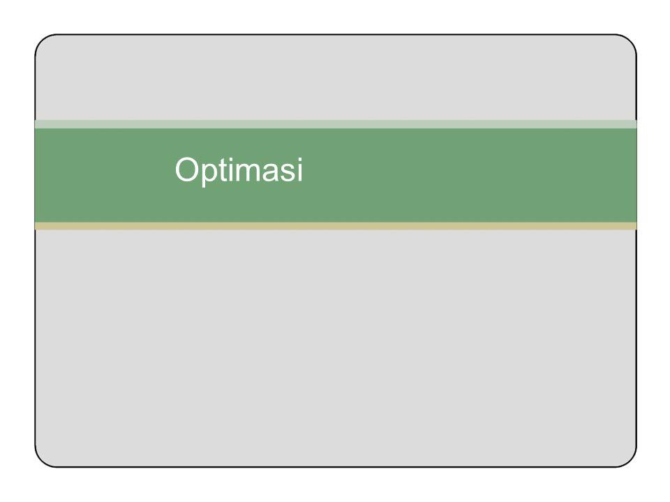 Langkah 2; Definisikan file Optimasi Dalam contoh ini, dimisalkan nama filenya adalah mkt_p.prm format penulisannya adalah sebagai berikut 0<=percent_budget_int_dir_sales = 6 <= 50