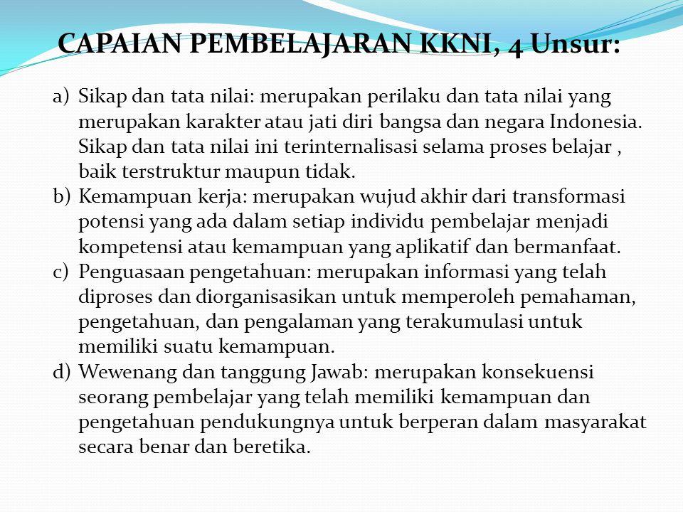 a)Sikap dan tata nilai: merupakan perilaku dan tata nilai yang merupakan karakter atau jati diri bangsa dan negara Indonesia. Sikap dan tata nilai ini