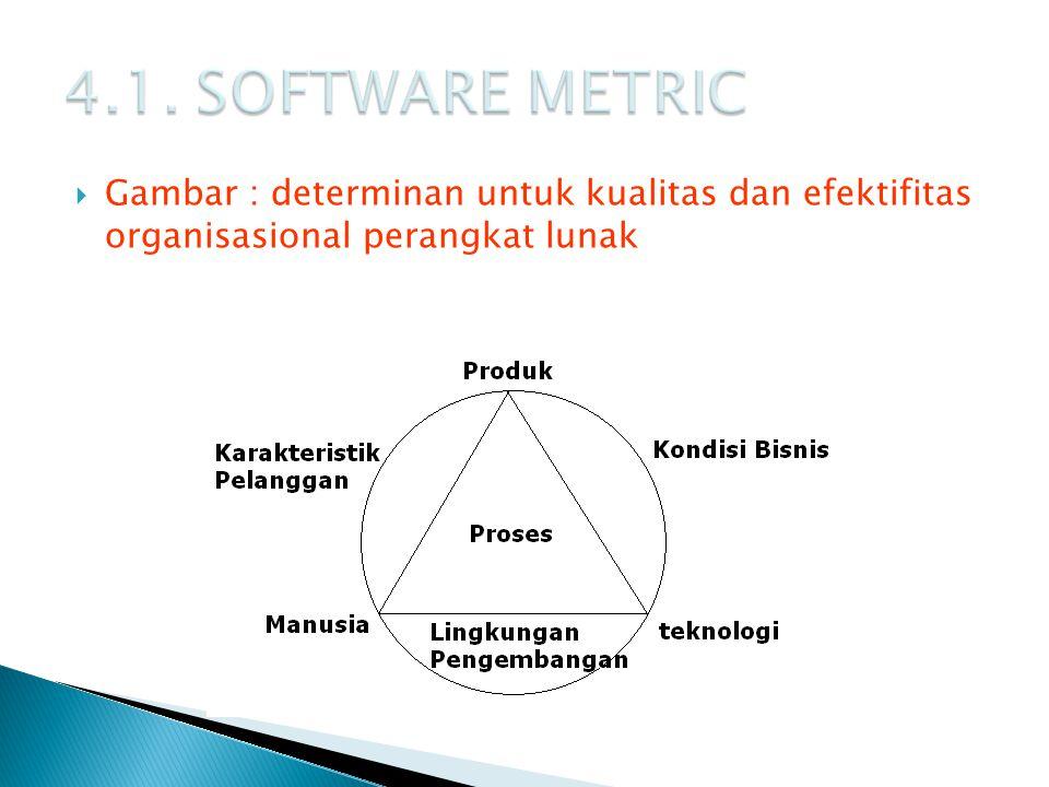  Gambar : determinan untuk kualitas dan efektifitas organisasional perangkat lunak