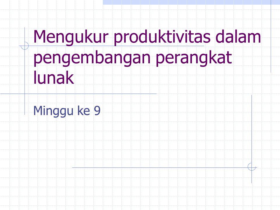 Mengukur produktivitas dalam pengembangan perangkat lunak Minggu ke 9