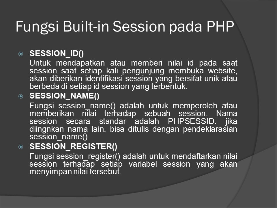 Contoh Program Session 1. cek-login.php