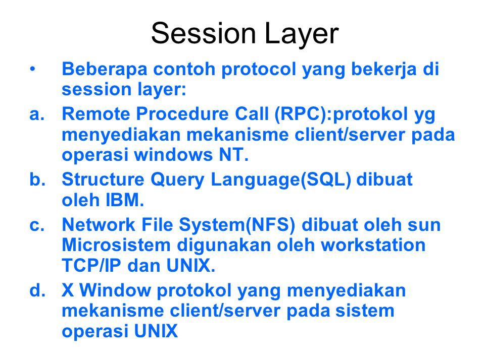 Transport Layer Bertanggungjawab dalam proses: a.Pengemasan data upper layer ke dalam bentuk segmen., pengiriman segmen antar host.