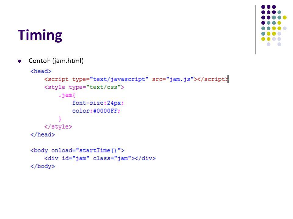 Timing Contoh (jam.html)