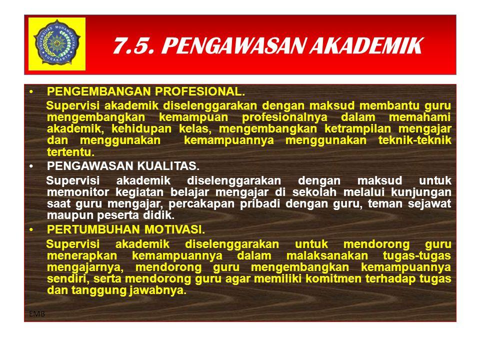 7.5.PENGAWASAN AKADEMIK PENGEMBANGAN PROFESIONAL.