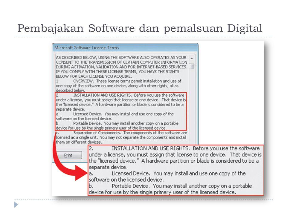 Pembajakan Software dan pemalsuan Digital