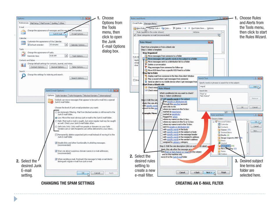  Gunakan e-mail filter spam yang secara otomatis rute yang mungkin ke dalam folder khusus untuk menangani nanti