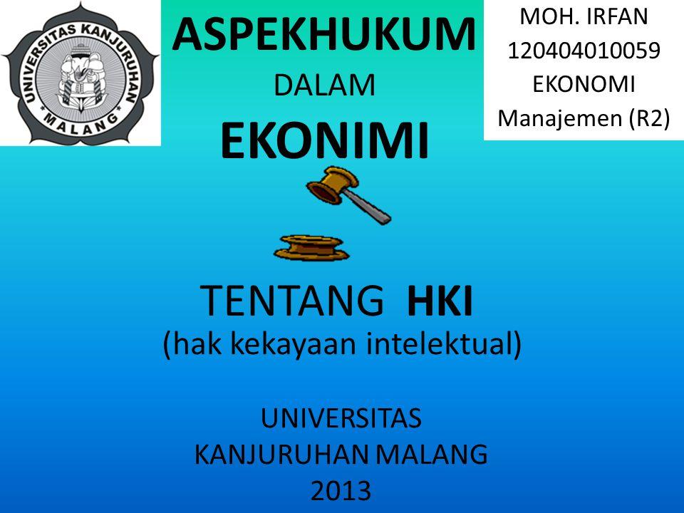Unsur unsur yang ada dalam istilah HKI adalah intelektual Kekayaan Hak Konsep perlindungan HKI