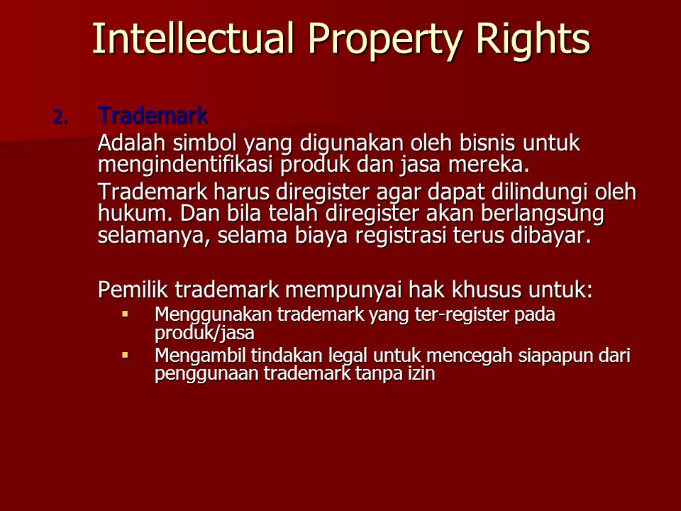 Intellectual Property Rights 2.