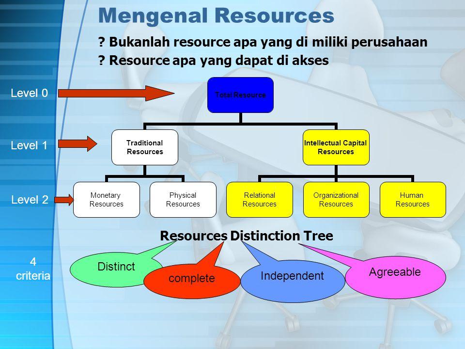 Mengenal Resources . Bukanlah resource apa yang di miliki perusahaan .