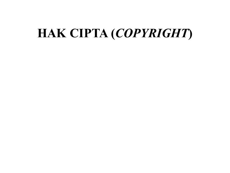 HAK CIPTA (COPYRIGHT)