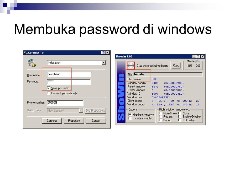 Membuka password di windows