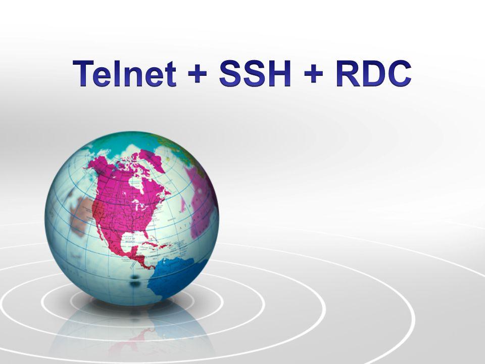 Telnet (Telecommunication Network)  Telnet adalah metode akses komputer yang dituju secara remote, dan tentu saja membutuhkan sebuah koneksi.