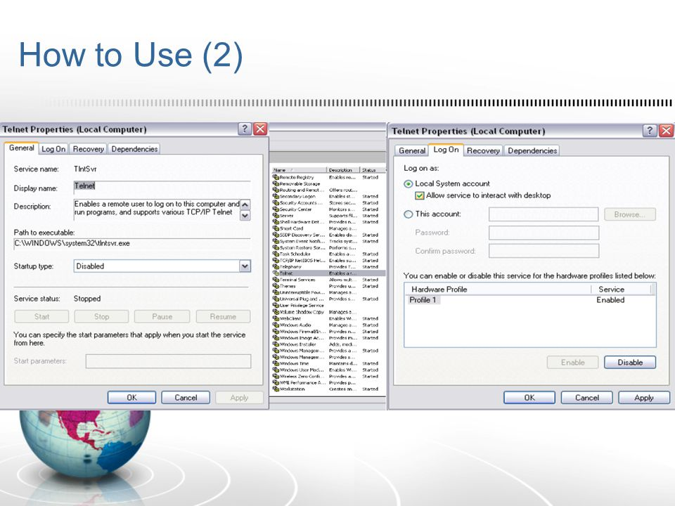 How to Use [Komputer Kantor]  Setelah mengaktifkan RDC pada komputer yang dituju, buka Start Menu – Accessories – Communication – RDC  Masukkan IP Computer yang dituju