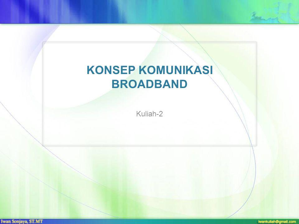 KONSEP KOMUNIKASI BROADBAND Kuliah-2