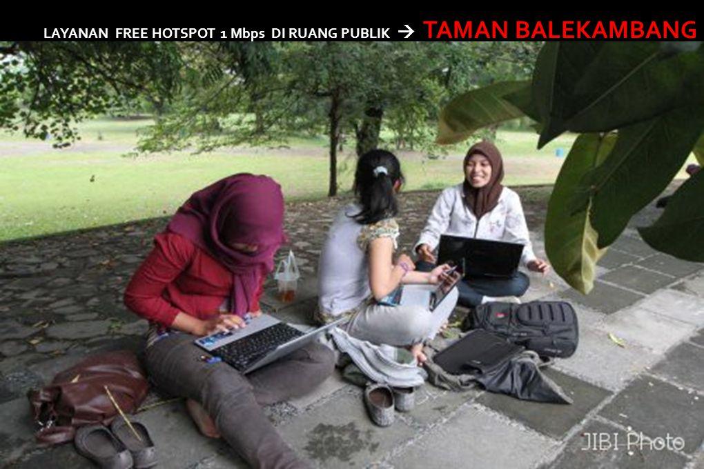 LAYANAN FREE HOTSPOT 1 Mbps DI RUANG PUBLIK  TAMAN BALEKAMBANG