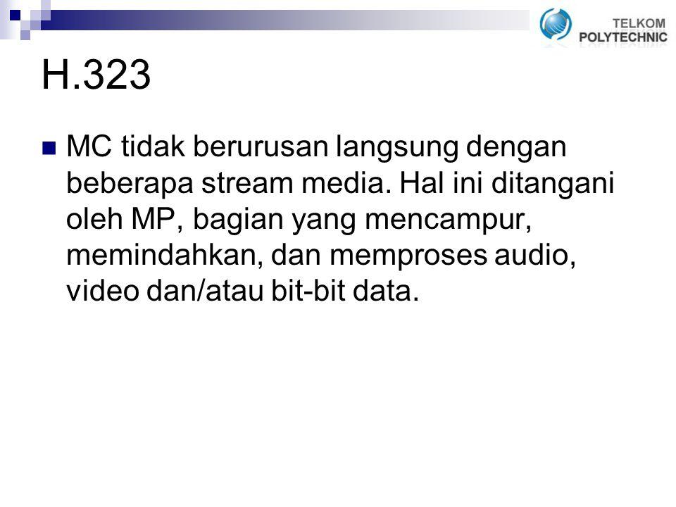 H.323 MC tidak berurusan langsung dengan beberapa stream media.