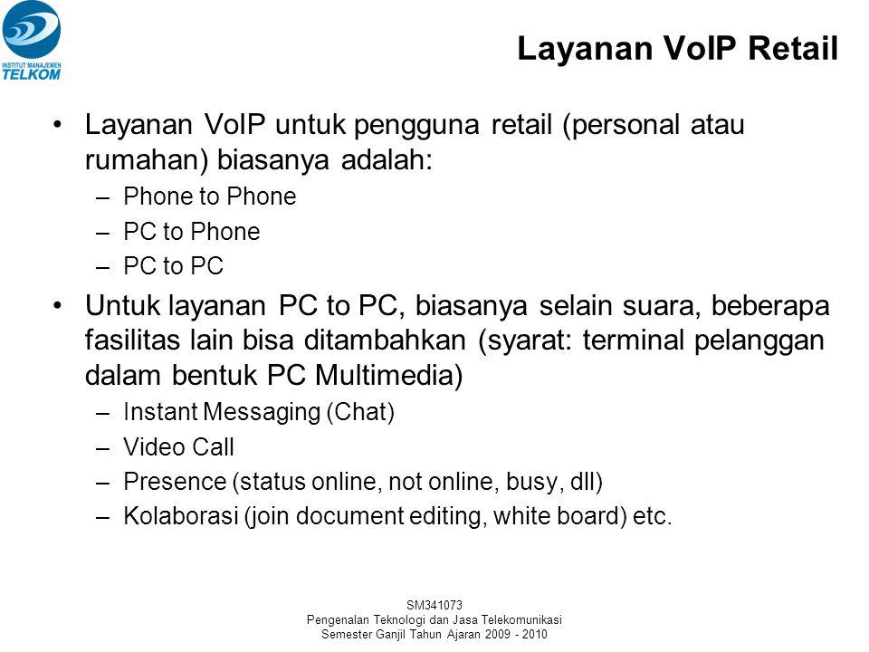 SM341073 Pengenalan Teknologi dan Jasa Telekomunikasi Semester Ganjil Tahun Ajaran 2009 - 2010 Konfigurasi Jaringan VoIP (IP Phone to IP Phone)