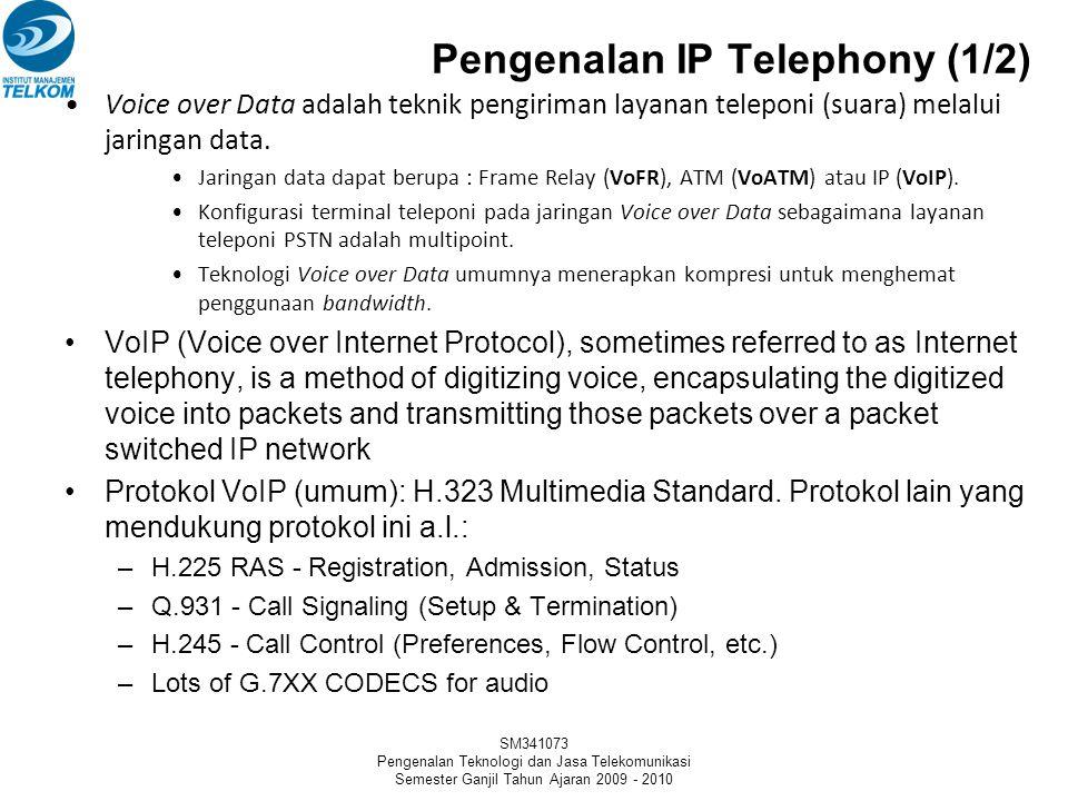 SM341073 Pengenalan Teknologi dan Jasa Telekomunikasi Semester Ganjil Tahun Ajaran 2009 - 2010 IP Network Multimedia PC Pada dasarnya adalah hubungan