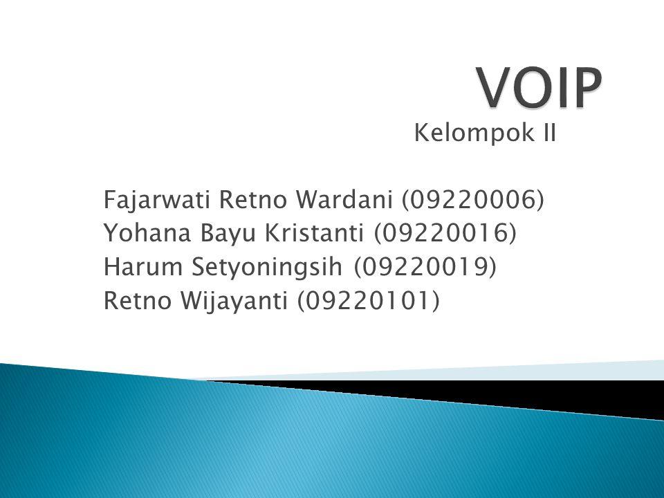 Kelompok II Fajarwati Retno Wardani (09220006) Yohana Bayu Kristanti (09220016) Harum Setyoningsih (09220019) Retno Wijayanti (09220101)