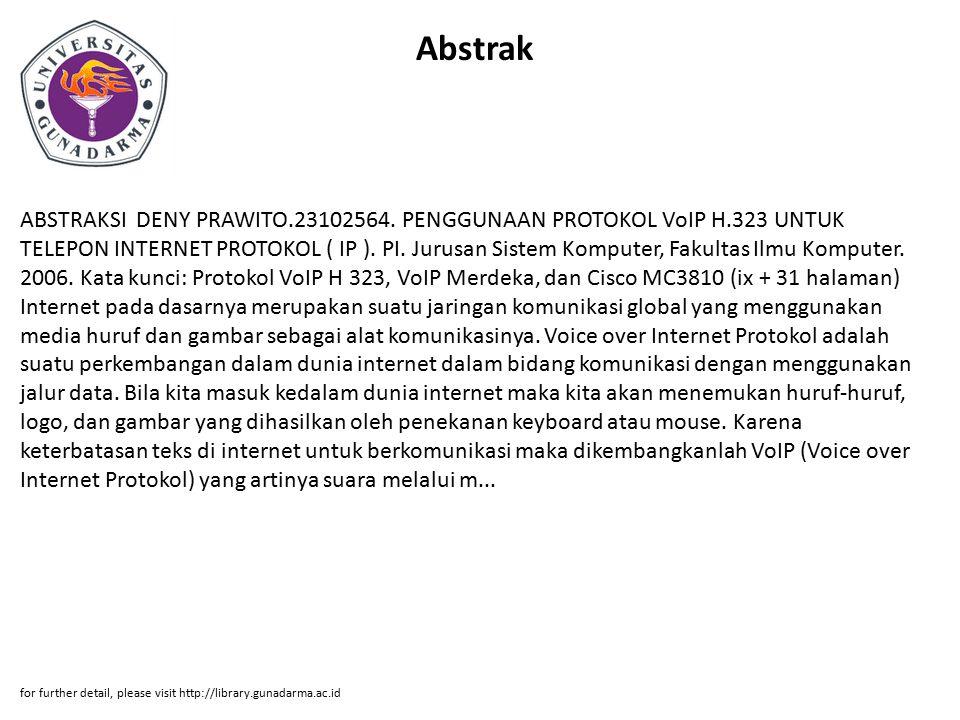 Abstrak ABSTRAKSI DENY PRAWITO.23102564.
