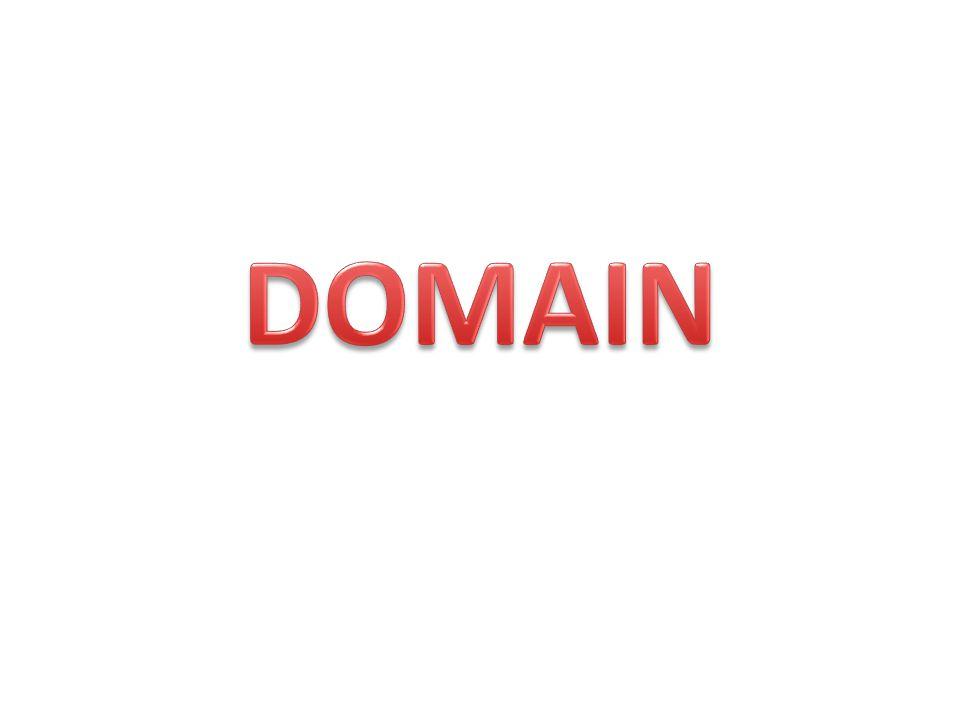 DOMAIN ADALAH : adalah nama unik yang diberikan untuk mengidentifikasi nama server komputer seperti web server atau email server di jaringan komputer ataupun internet