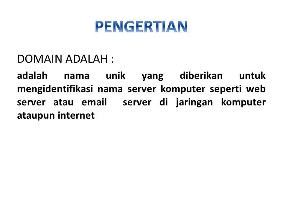 Contoh domain generic adalah sebagai berikut.