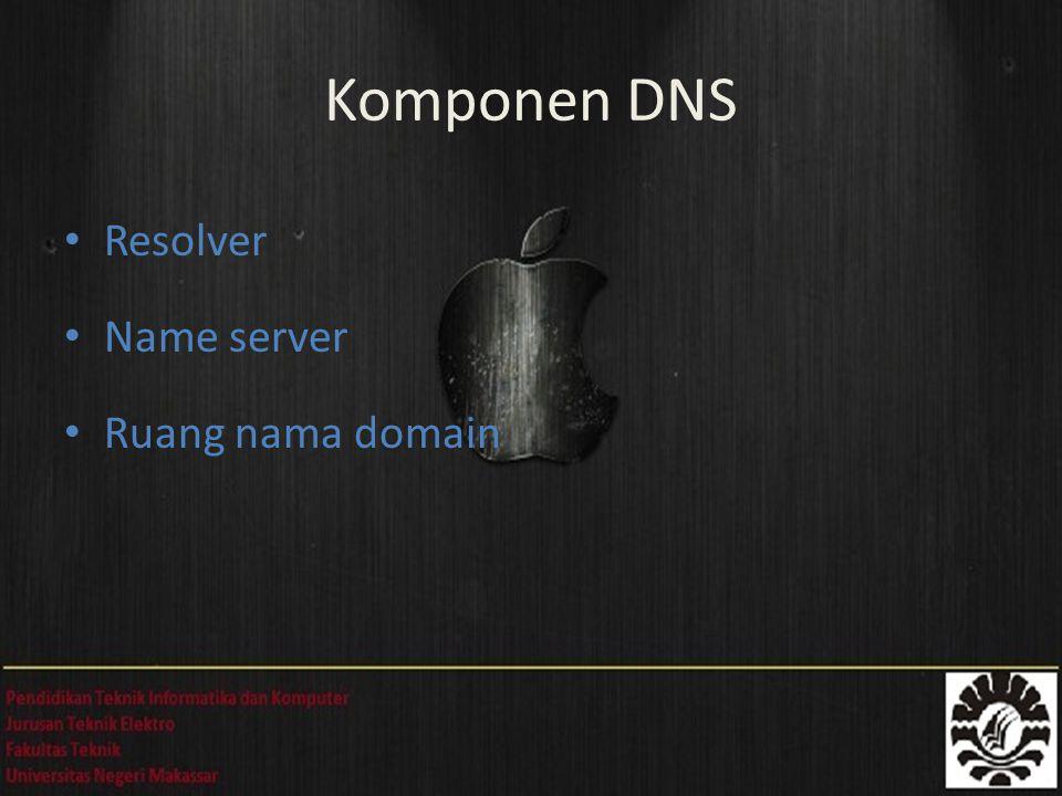 Domain Level 1 (uplevel) -.co,.uk Domain Level 2 - belajarjaringan.com Nama Host Zona Struktur Domain, Host, dan Zona