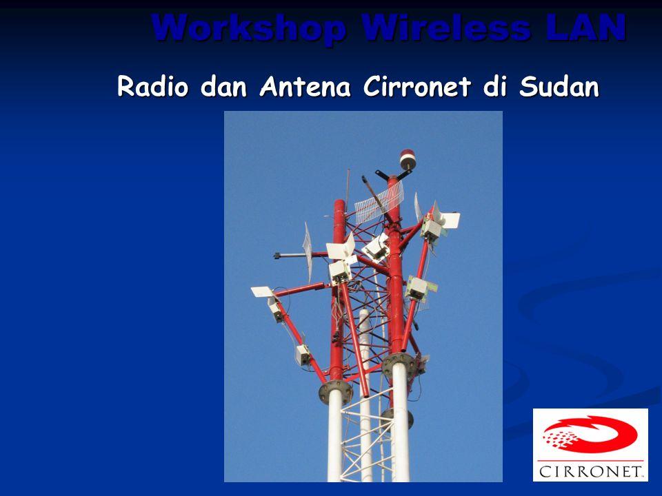 Workshop Wireless LAN Radio dan Antena Cirronet di Sudan