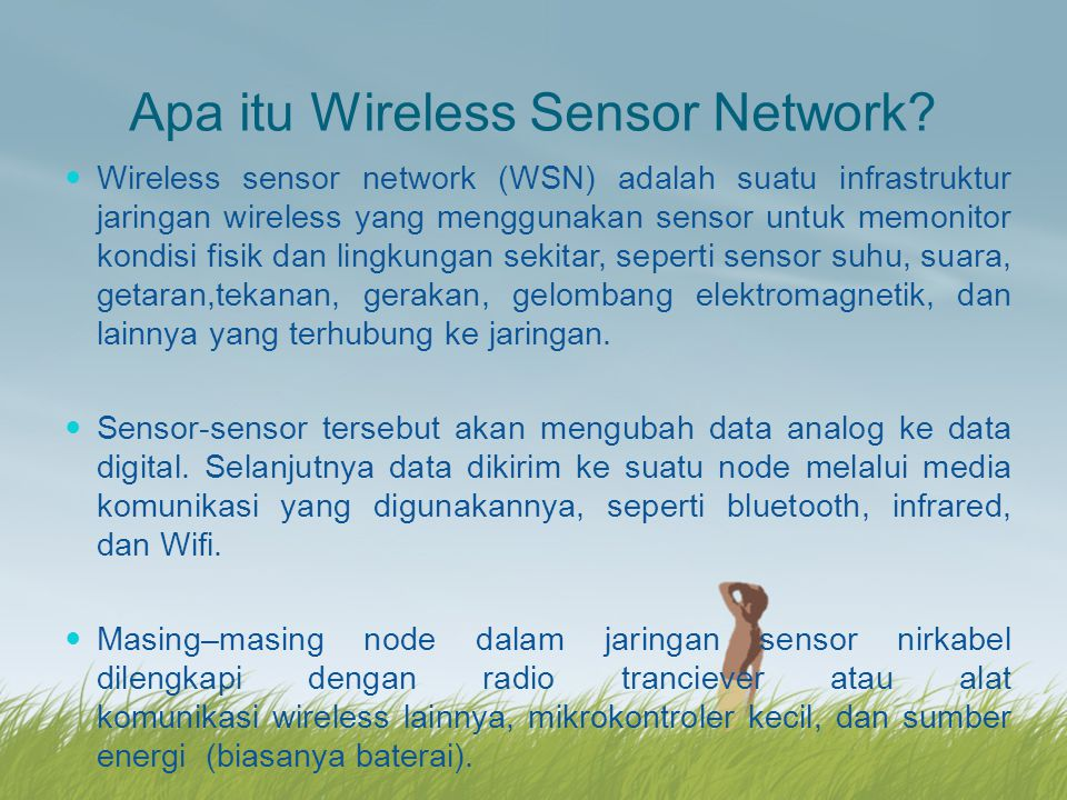 Apa itu Wireless Sensor Network.