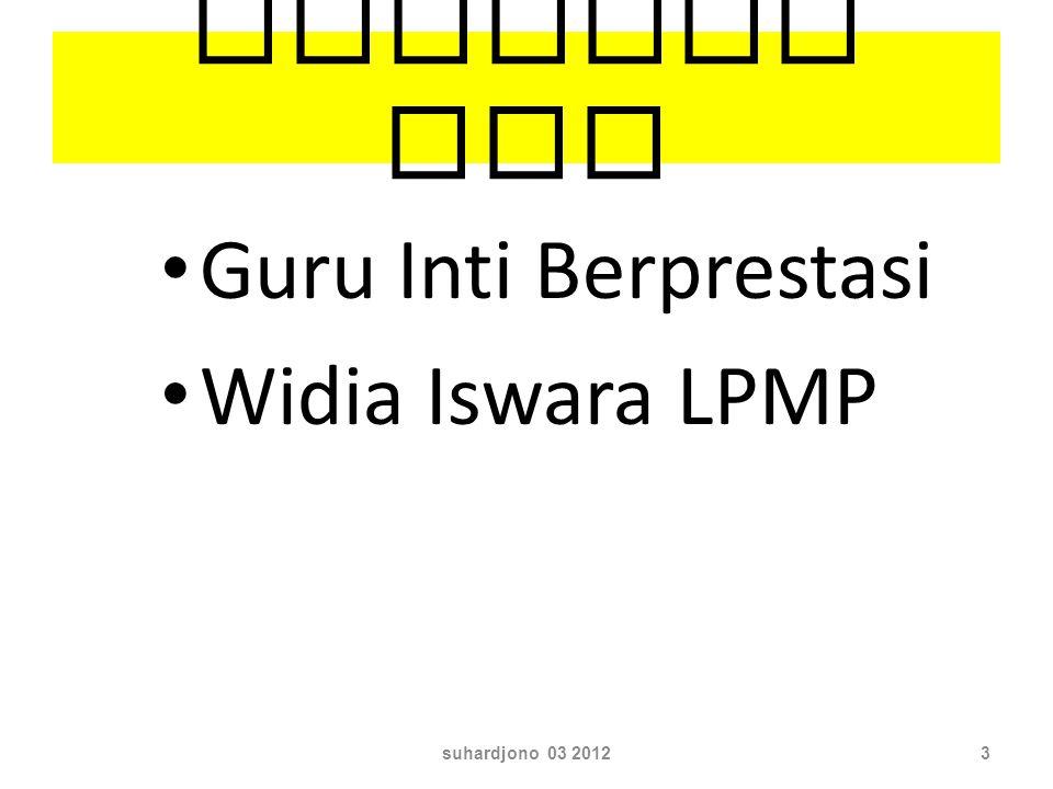 Peserta TOT Guru Inti Berprestasi Widia Iswara LPMP suhardjono 03 20123