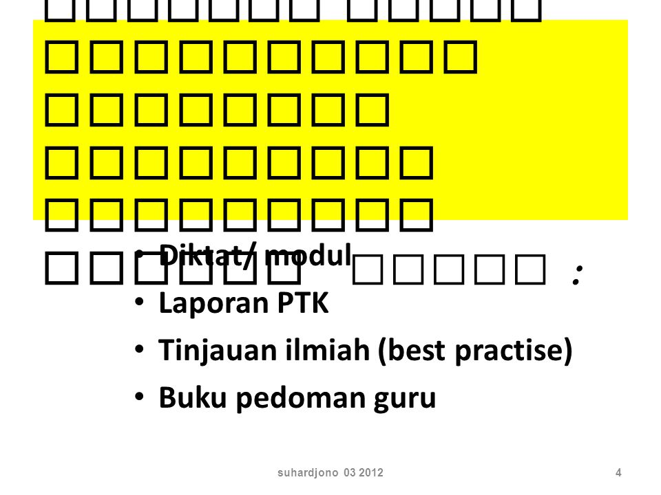 worksh op 30 kabupaten 40 peserta suhardjono 03 20125 Dibimbing oleh peserta TOT