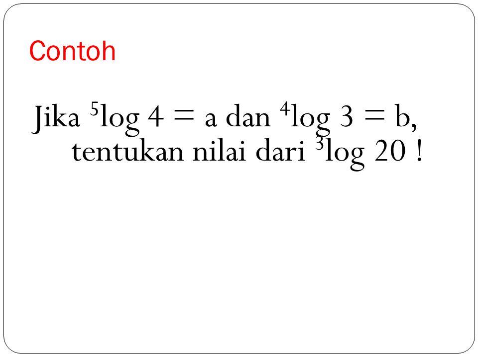 Penyelesaian c log 0,125 = log (125 : 1000) = log ⅛ = log = log 2 -3 = -3. log 2 = -3. 0,3010 = -0,9030
