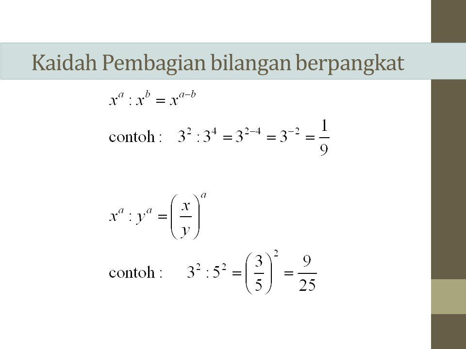 Akar Akar merupakan bentuk lain untuk menyatakan bilangan berpangkat.