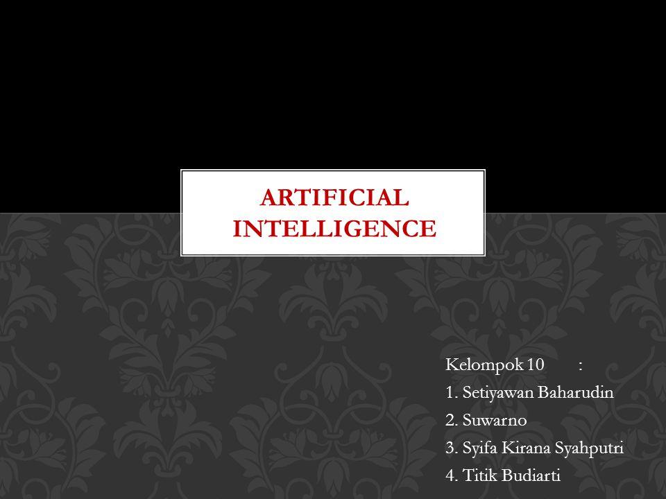 PENGERTIAN Kecerdasan Buatan ( bahasa inggris : Artificial Intelligence atau AI) didefinisikan sebagai kecerdasan entitas ilmiah.