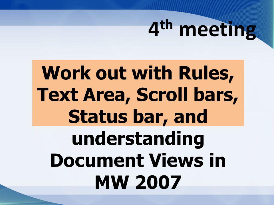 RULER Ruler merupakan kotak pengukuran yang diletakkan secara horizontal, yaitu di atas dokumen, dan secara vertikal, yaitu di sebelah kiri dokumen.