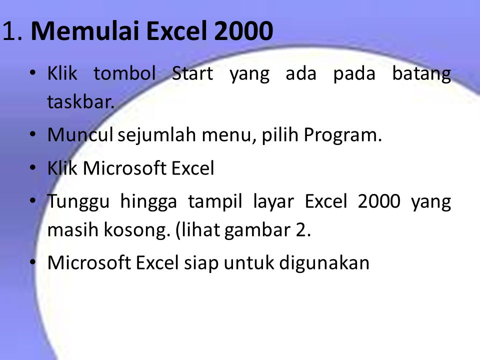 Pendahuluan Microsoft Excel (MS-Excel) merupakan program aplikasi spreadsheet (lembar kerja elektronik) canggih yang paling populer dan paling banyak