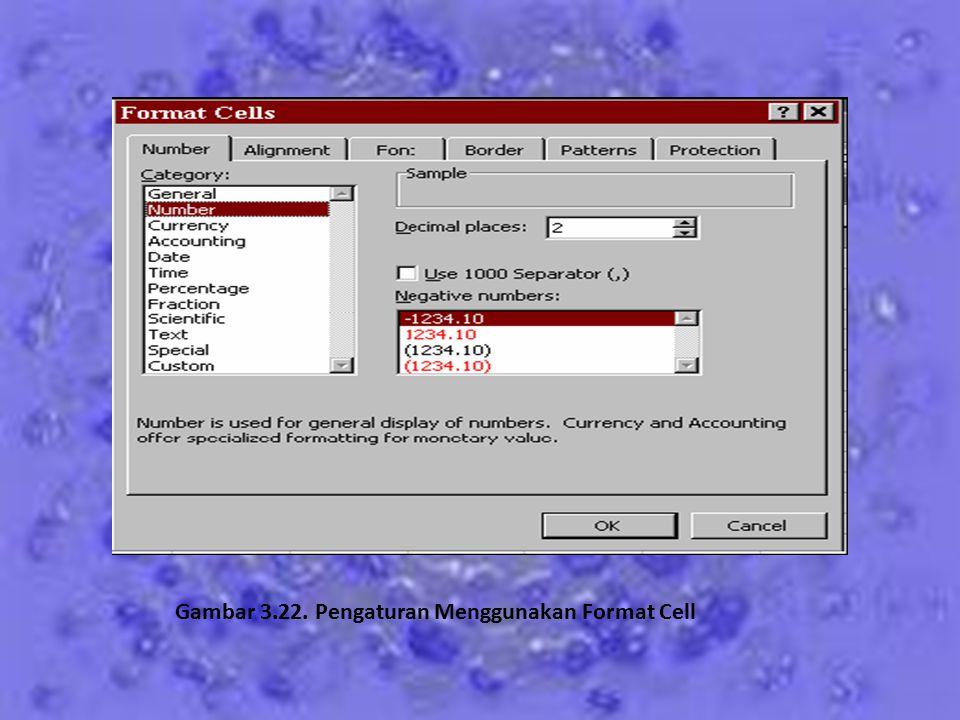 2. Menggunakan Perintah Format Cell Perintah format cell sangat dianjurkan guna mengurangi kesalahan dalam pengetikan data angka. Ikuti langkah-langka