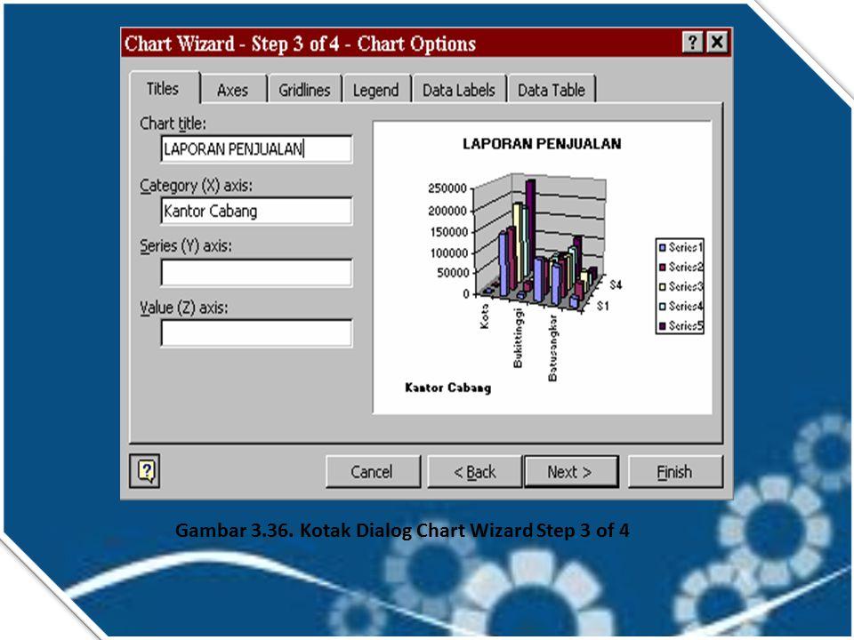Isilah tab data range dengan meng-klik tombol pemilihan data yang terletak sebelah kanan kotak ini. Karena kita telah menyorot range data tersebut, ma