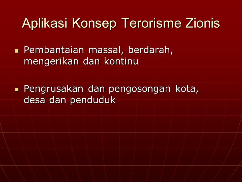 """Zionis danTeroris Dua definisi teroris yang digunakan FBI Amerika : 1. Walter Lqueur : """"Terorisme mewakili penggunaan kekuatan yang tidak legal demi m"""