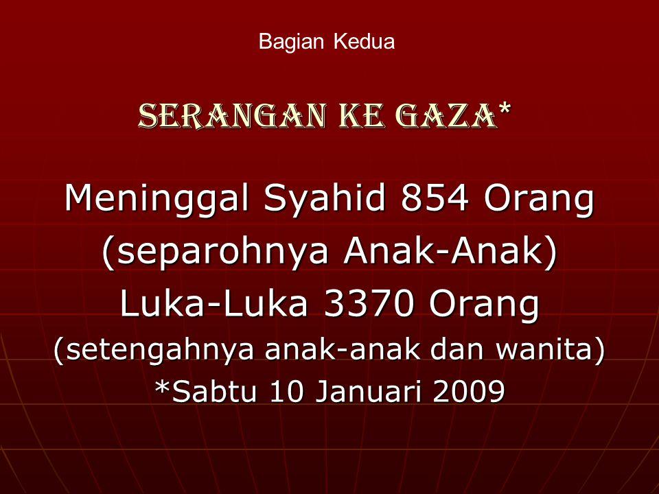 Jumlah syuhada dari tahun 2000 s/d 2005 Semenjak meletusnya intifadhah al- Aqsha pada tanggal 28 September 2000 hingga 31 Oktober 2005 adalah 4197 ora