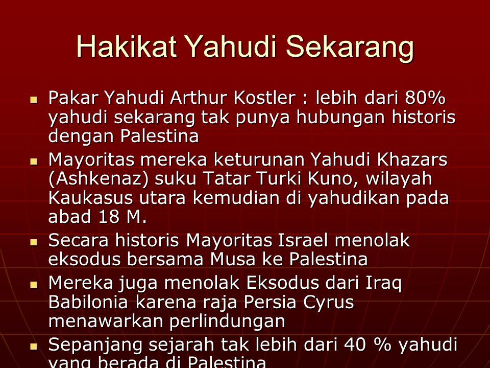 Sejarah Israel Yahudi hanya menguasai sebagian Palestina sekitar 4 abad (dari 1000- 586SM) Yahudi hanya menguasai sebagian Palestina sekitar 4 abad (d