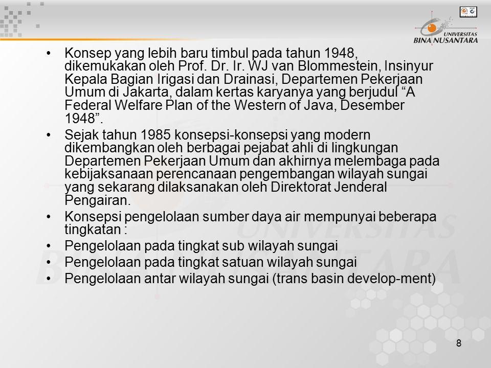 8 Konsep yang lebih baru timbul pada tahun 1948, dikemukakan oleh Prof.