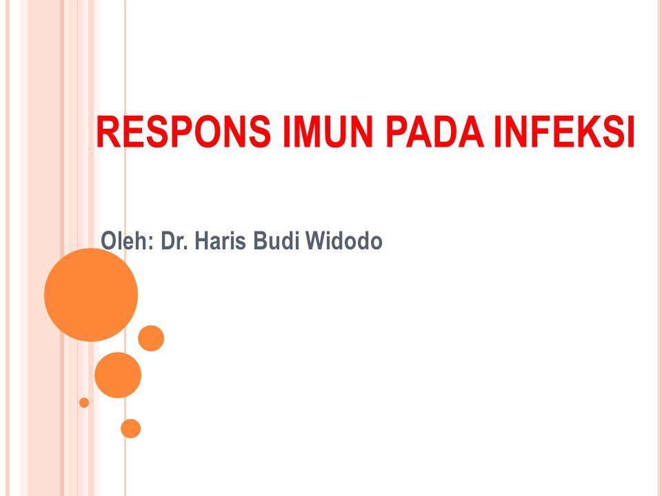 RESPONS IMUN PADA INFEKSI Oleh: Dr. Haris Budi Widodo