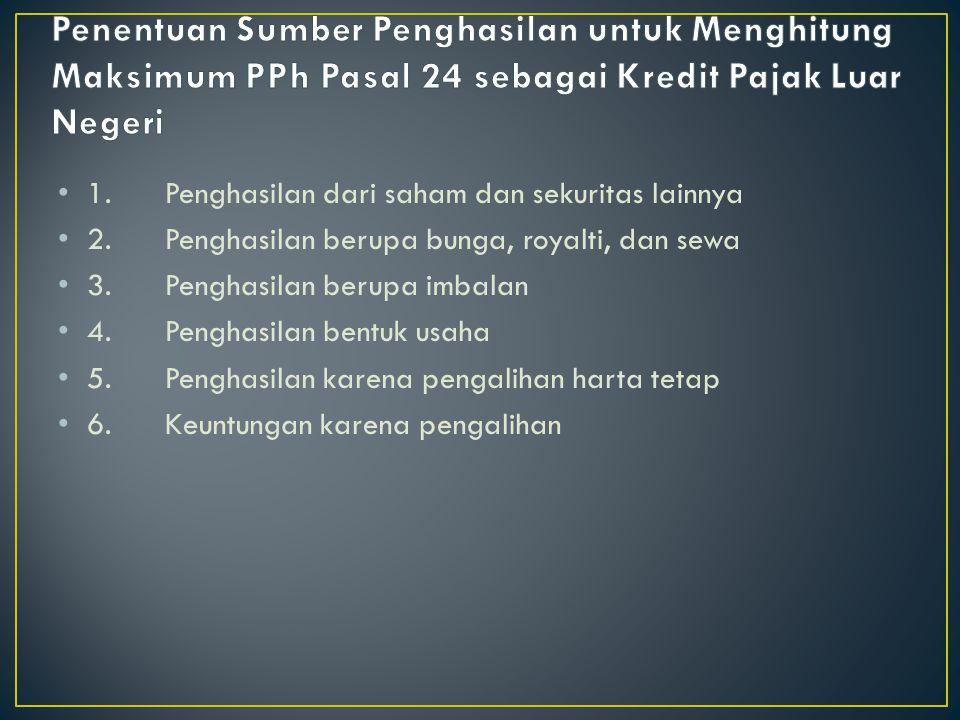 Berdasarkan pada Pasal 24 ayat (3) UU PPh menggunakan prinsip yang sama dengan prinsip yang dimaksudkan pada ayat tersebut.