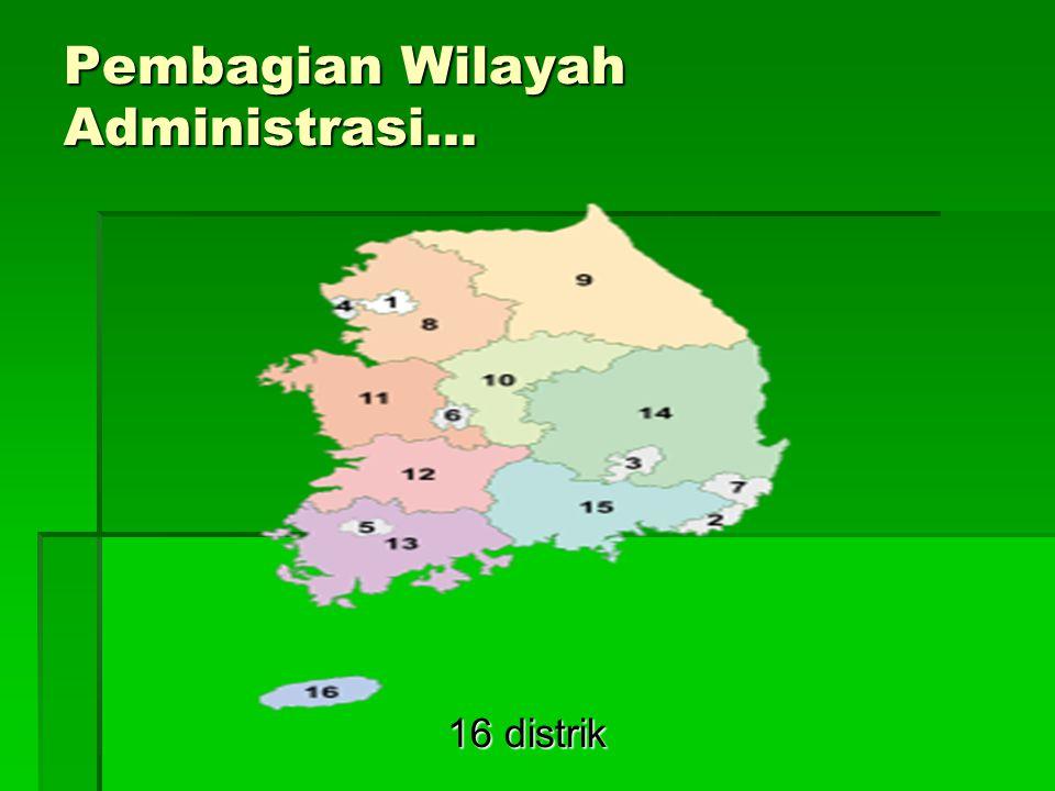 Pembagian Wilayah Administrasi... 16 distrik