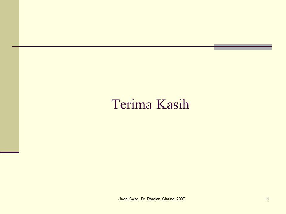 Jindal Case, Dr. Ramlan Ginting, 200711 Terima Kasih