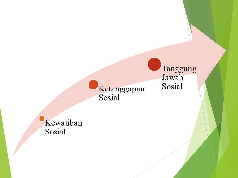  Kewajiban sosial adalah keterlibatan perusahaan dalam aksi sosial karena kewajibannya untuk memenuhi tanggung jawab.