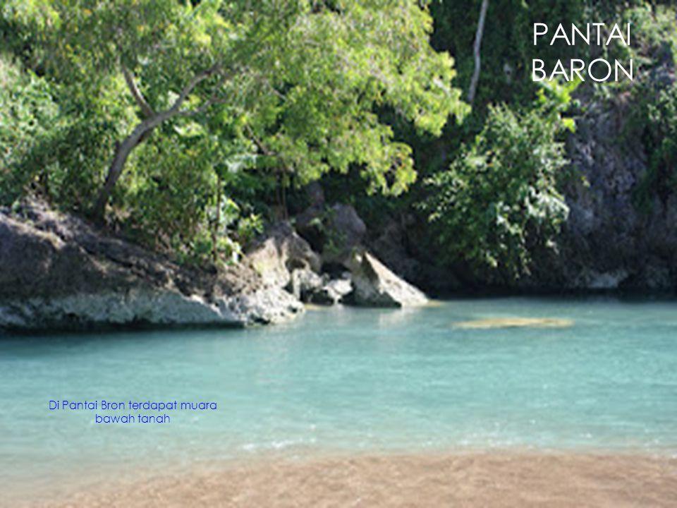 Di Pantai Bron terdapat muara bawah tanah PANTAI BARON
